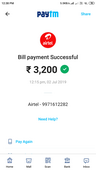 wrong recharge reversal for airtel