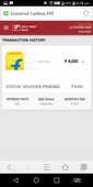 still pending voucher of instacred by idfc bank