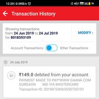 Gaana com — gaana + (fraud transaction)