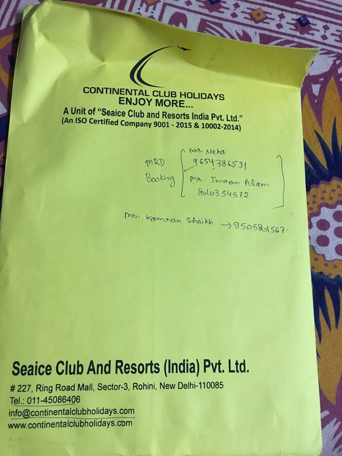 Continental Club Holidays — want to refund my 45000 amount
