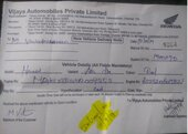 no support for issues from showroom for newly purchased bike (vijaya honda navalur)
