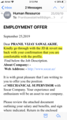 job scam fake telephonic interview that too from abroad and fake offer letter