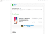 faulty mobile delivered by quikr and not responding to emails