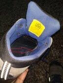 shoe erupted inside.