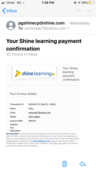payment made but promised services. not given. false promising by shine executives