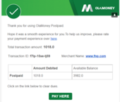 ola money deducted from postpaid wallet