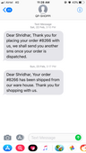 order not delivered in spite of payment done