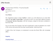 indigo revoked my offer letter