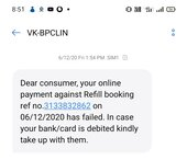 Online booking payment deducted