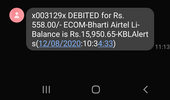 Prepaid recharge failed but money deducted