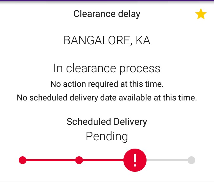 Resolved Fedex Delivery Pending