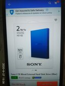 sony 2tb wired external hard disk drive no works.