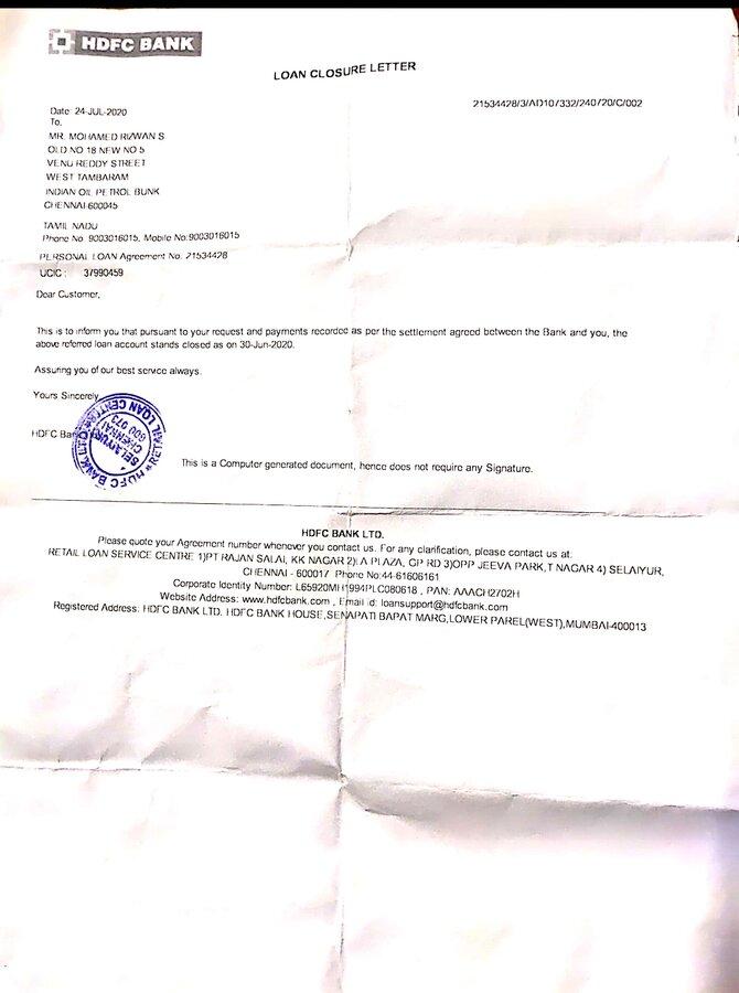 Hdfc Bank Chennai Hdfc Personal Loan Protected Mohamed Rizwan