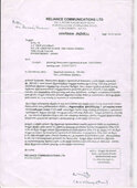 Receipt of notice after temination and settlement of dues