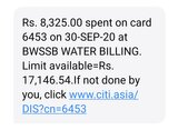 se326701-bill payment made through bwssb portal failed but amout debited from our account