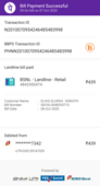 Bsnl landline bill paid twice