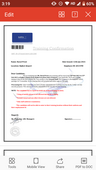 Fake employment letter
