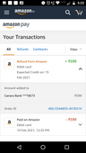 Refund is not reflected in my account