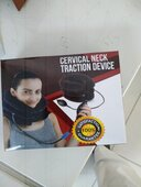 Neck Traction Cervical Collar Device for Neck and Back Pain Relief, Inflatable Spine Alignment