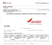 Non refund of cancelled flight of air india