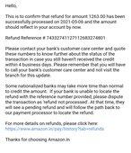 Amazon refund me but my PNB account not received yet my refund money