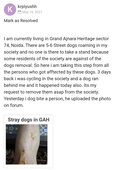 Street dogs in private society running behind everyone and biting them