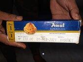 Amul Ice cream brick (kesar pista)