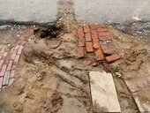 Damage of road/passage in front of house due to water pipe line work done