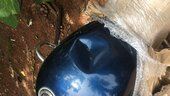 Motorcycle damaged