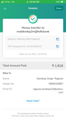 Amount got debited but not received order id