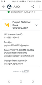 Payment successful but not accepted in ajio app