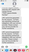 They are not providing me UPC code for Port my number.
