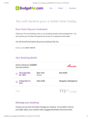 Refund not received for cancelled flight