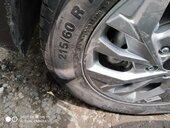 Defective tyre in new car