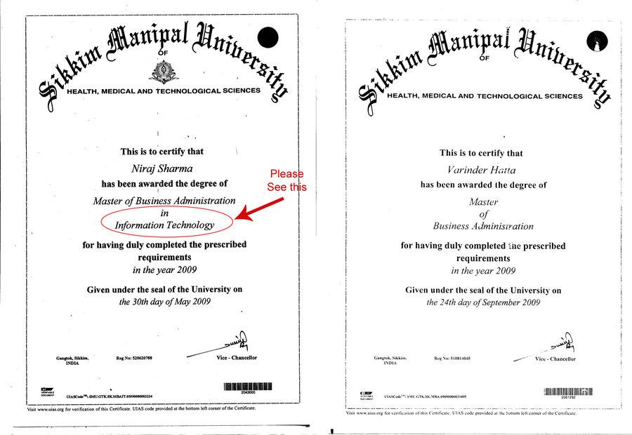 Sikkim manipal university smu mba degree printing issue yadclub Images