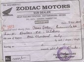 Sub dealer of Honda Motorcycle & Scooter India Pvt.  at kottarakara , kerala is not releasing my demand for a 2 wheeler
