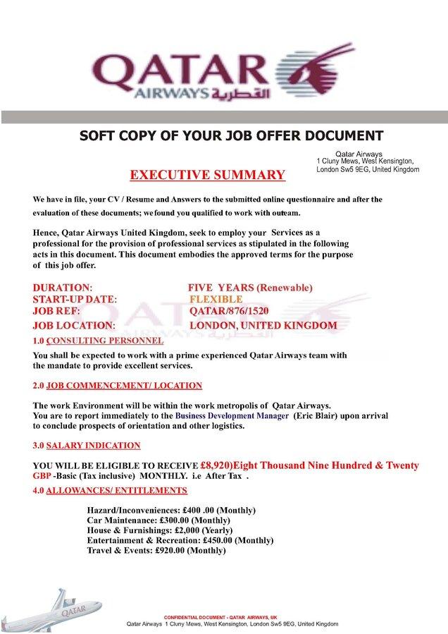 verifications of job offer