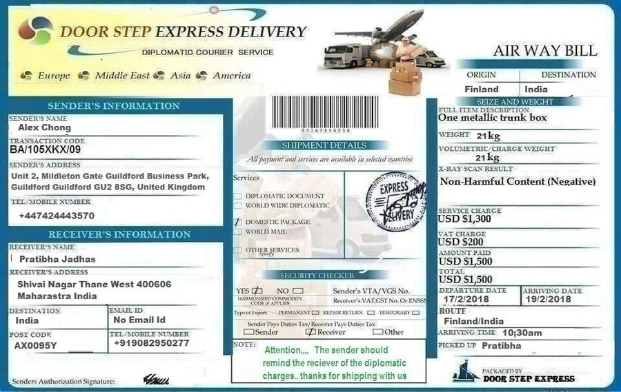 Diplomatic courier service united kingdom — consignment