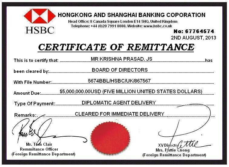 HSBC Bank Uk — REGARDING OF RECEIVED MAIL