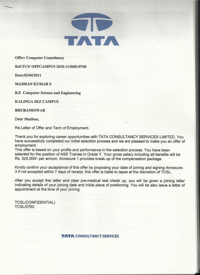 Tcs fake joining letter fake joining letter altavistaventures Images