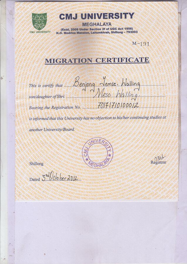Sample degree certificate of cmj university images certificate bcom certificate format sample images certificate design and sample degree certificate of cmj university gallery certificate yadclub Choice Image