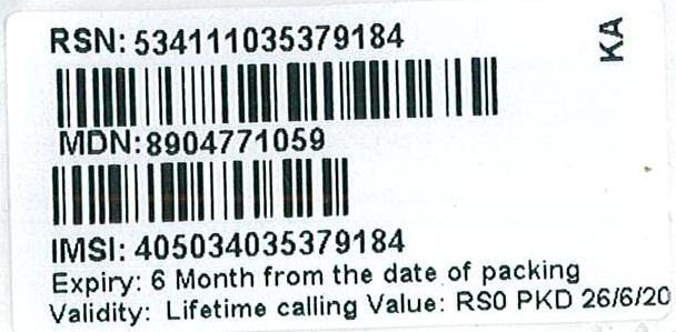 Tata DoCoMo SIM Card — New Activation