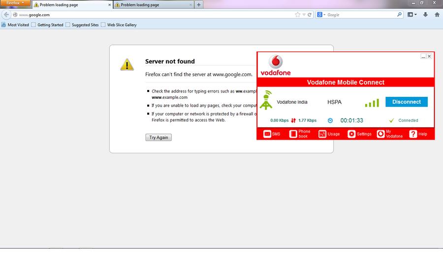 Resolved] Vodafone — Vodafone 3G internet is not working properly