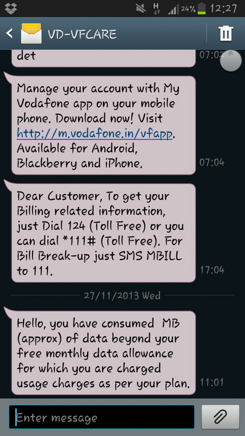 Vodafone India Limited — harassment by vodafone india