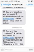Courier sent on 6.09.2014 from Chennai still not received