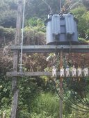 transformer hanging electrical lines