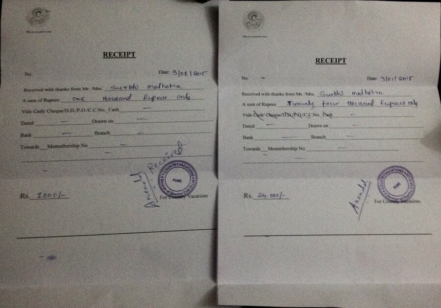 country club india country vacation false sales committment